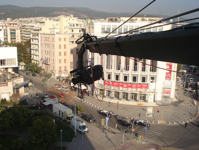 Jimmy Jib Extreme Angle Shoot High Above Thessaloniki Visual-arts.gr