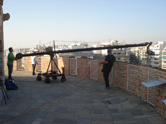 Jimmy Jib Extreme Angle Shoot From The Top of White Tower Thessaloniki Visual-arts.gr
