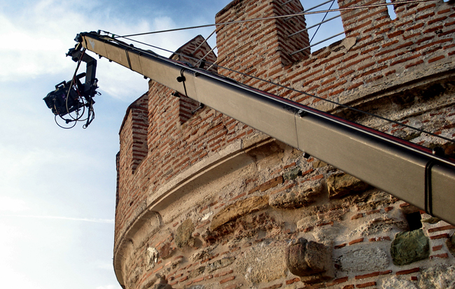 Jimmy Jib Extreme Angle Shoot Beneath White Tower in Thessaloniki Visual-arts.media