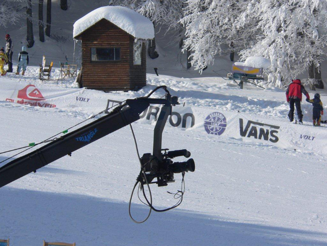 Jimmy Jib Extreme Angle Winter Shoot Snowboard Recording Visual-Arts.media