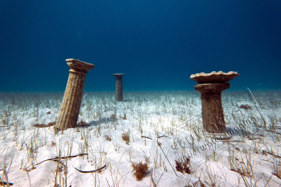 Underwater Monuments in Museum Photoshooting Cyprus